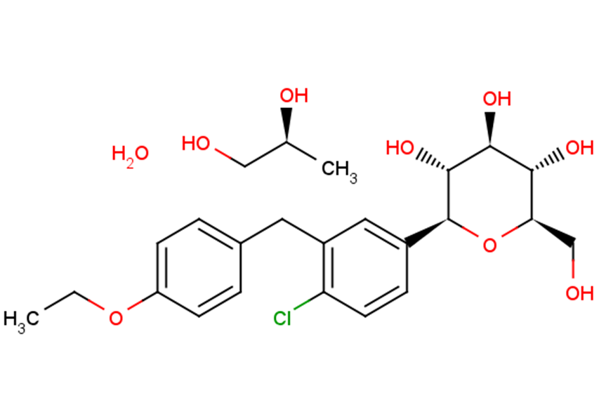 Dapagliflozin ((2S)-1,2-propanediol, hydrate)
