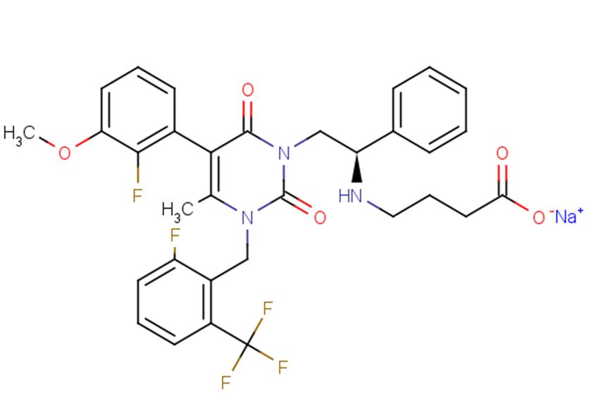 Elagolix sodium