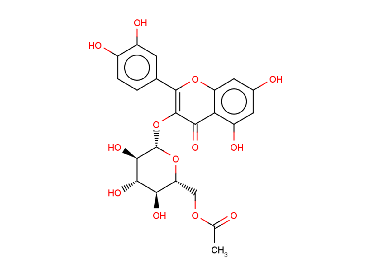 Quercetin-3-O-glucose-6''-acetate
