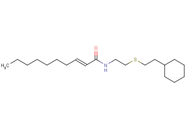 2-(E-2-decenoylamino)ethyl 2-(cyclohexylethyl) sulfide