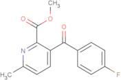 Methyl 3-(4-fluorobenzoyl)-6-methyl-2-pyridinecarboxylate