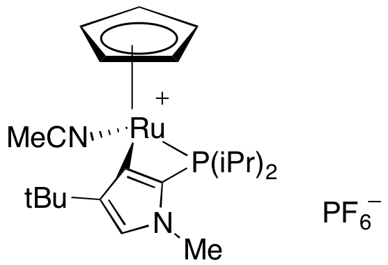 (Acetonitrile)[4-tert-butyl-2-(diisopropylphosphino)-1-methyl-1H-imidazole-κN,κP](η5-cyclopentadienyl)ruthenium(1+) hexafluorophosphate