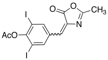 4-[[4-(Acetyloxy)-3,5-diiodophenyl]methylene]-2-methyl-5(4H)-oxazolone (E/Z Mixture)