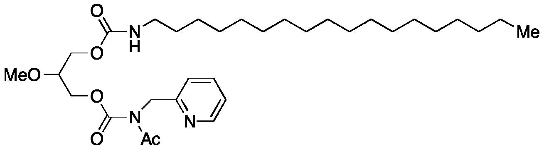 Acetyl(2-pyridinylmethyl)carbamic Acid 2-Methoxy-3-[[(octadecylamino)carbonyl]oxy]propyl Ester