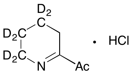 2-Acetyl-3,4,5,6-tetrahydropyridine-d4 Hydrochloride (Technical Grade)
