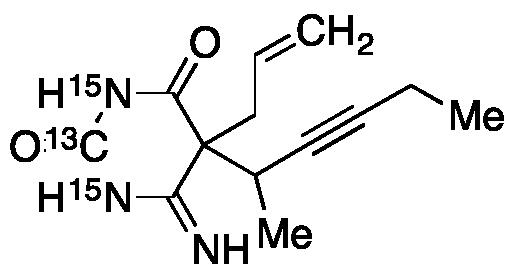 5-Allyl-6-imino-5-(1-methyl-2-pentynyl)hydrouracil-13C,15N2