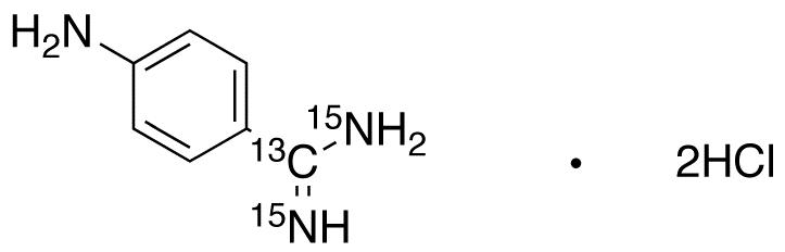4-Aminobenzamidine-13C,15N2 Dihydrochloride