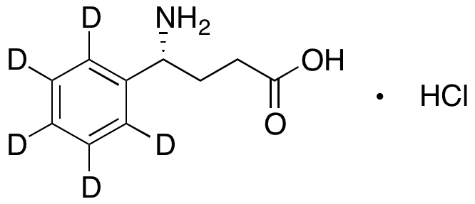 (R)--Aminobenzenebutanoic Acid-d5 Hydrochloride