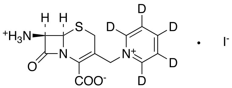 1-[[(6R,7R)-7-Amino-2-carboxy-8-oxo-5-thia-1-azabicyclo[4.2.0]oct-2-en-3-yl]methyl]pyridinium-d5 Iodide
