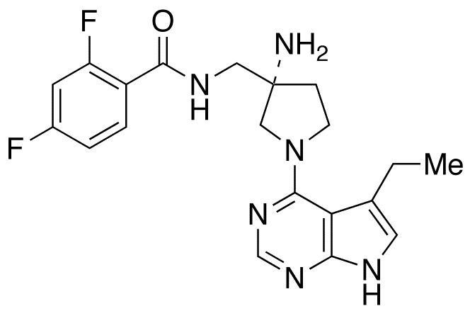 (S)-N-[[3-Amino-1-(5-ethyl-7H-pyrrolo[2,3-d]pyrimidin-4-yl)pyrrolidin-3-yl]methyl]-2,4-difluorobenzamide