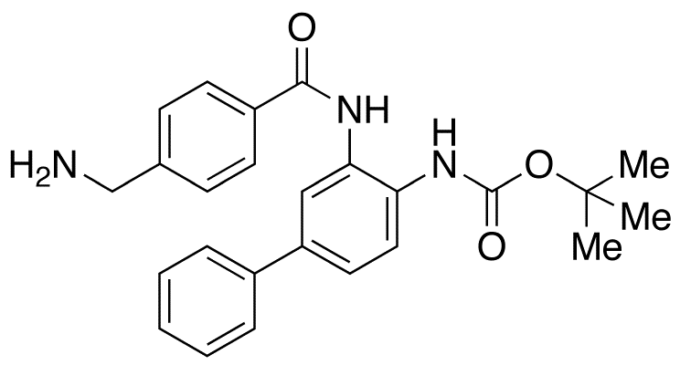 N-[3-[[4-(Aminomethyl)benzoyl]amino][1,1'-biphenyl]-4-yl]carbamic Acid tert-Butyl Ester