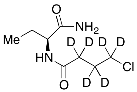 (S)-N-(1-Amino-1-oxobutan-2-yl)-4-chlorobutanamide-d6
