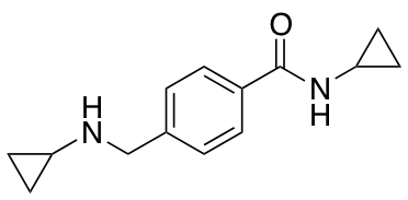 N-Cyclopropyl-4-[(cyclopropylamino)methyl]benzamide