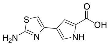 4-(2-amino-1,3-thiazol-4-yl)-1H-pyrrole-2-carboxylic Acid