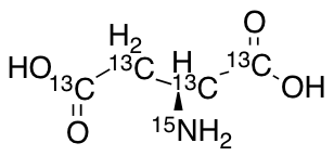 L-Aspartic-13C4, 15N Acid