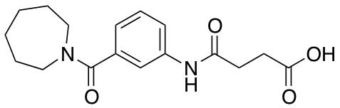4-[3-(1-Azepanylcarbonyl)anilino]-4-oxobutanoic Acid