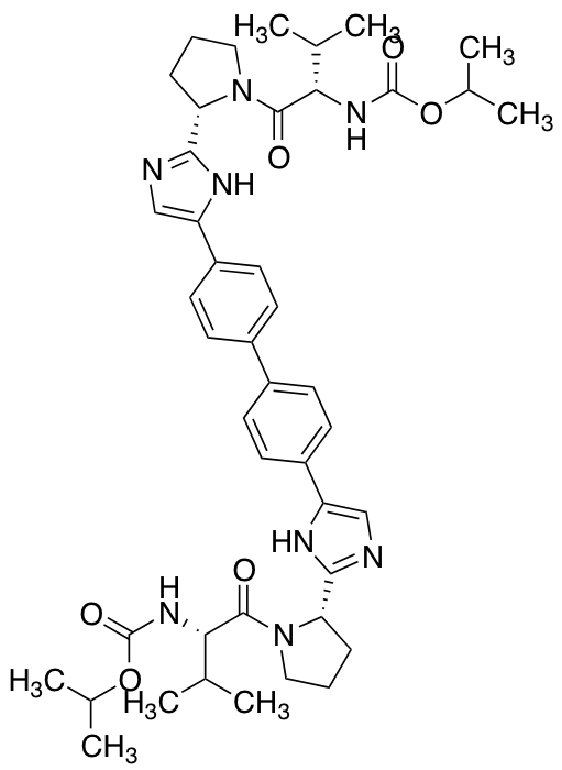 C,C'-bis(1-Methylethyl) Ester N,N'-[[1,1'-Biphenyl]-4,4'-diylbis[1H-imidazole-5,2-diyl-(2S)-2,1-pyrrolidinediyl[(1S)-1-(1-methylethyl)-2-oxo-2,1-ethanediyl]]]bis-carbamic Acid,