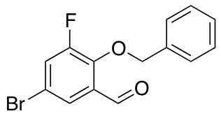 5-Bromo-3-fluoro-2-(phenylmethoxy)benzaldehyde