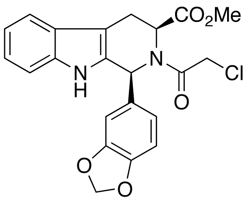 (1S,3S)-1-(1,3-Benzodioxol-5-yl)-2-(2-chloroacetyl)-2,3,4,9-tetrahydro-1H-pyrido[3,4-b]indole-3-carboxylic Acid Methyl Ester