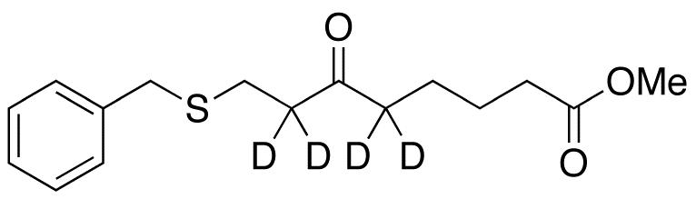 8-(Benzylthio)-6-oxo-octanoic Acid Methyl Ester-d4