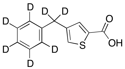 4-Benzyl- 2-thiophenecarboxylic Acid-d7