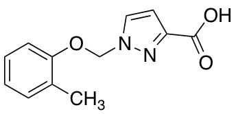 1-[(2-Methylphenoxy)methyl]-1H-pyrazole-3-carboxylic Acid
