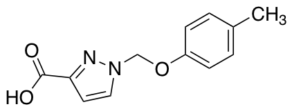 1-[(4-Methylphenoxy)methyl]-1H-pyrazole-3-carboxylic Acid