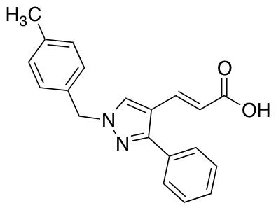 3-{1-[(4-Methylphenyl)methyl]-3-phenyl-1H-pyrazol-4-yl}prop-2-enoic Acid