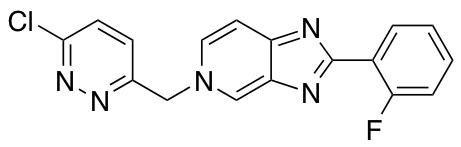 5-((6-Chloropyridazin-3-yl)methyl)-2-(2-fluorophenyl)-5H-imidazo[4,5-c]pyridine