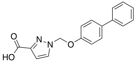 1-[(1,1'-Biphenyl-4-yloxy)methyl]-1H-pyrazole-3-carboxylic Acid