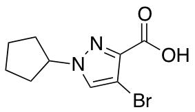 4-Bromo-1-cyclopentyl-1H-pyrazole-3-carboxylic Acid