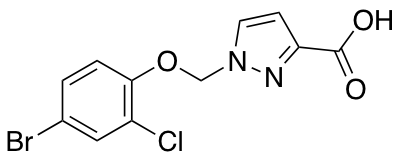 1-[(4-Bromo-2-chlorophenoxy)methyl]-1H-pyrazole-3-carboxylic Acid