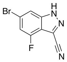 6-Bromo-3-cyano-4-fluoro 1H-Indazole