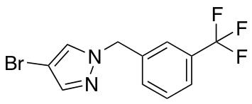 4-Bromo-1-{[3-(trifluoromethyl)phenyl]methyl}-1H-pyrazole