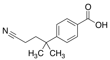 4-(4-Cyano-2-methylbutan-2-yl)benzoic Acid