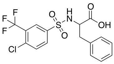 ((4-Chloro-3-(trifluoromethyl)phenyl)sulfonyl)phenylalanine