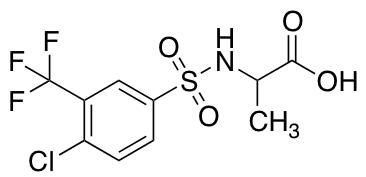 ((4-Chloro-3-(trifluoromethyl)phenyl)sulfonyl)alanine