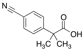 2-(4-Cyanophenyl)-2-methylpropanoic Acid