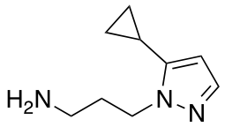 3-(5-Cyclopropyl-1H-pyrazol-1-yl)propan-1-amine
