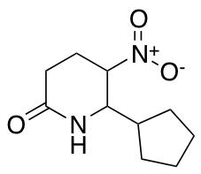 6-Cyclopentyl-5-nitropiperidin-2-one