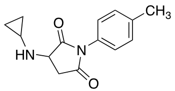 3-(Cyclopropylamino)-1-(4-methylphenyl)pyrrolidine-2,5-dione
