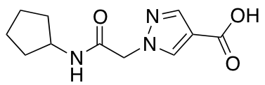 1-[(Cyclopentylcarbamoyl)methyl]-1H-pyrazole-4-carboxylic Acid
