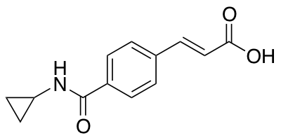 3-[4-(Cyclopropylcarbamoyl)phenyl]prop-2-enoic Acid