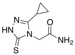 2-(3-cyclopropyl-5-sulfanyl-4H-1,2,4-triazol-4-yl)acetamide