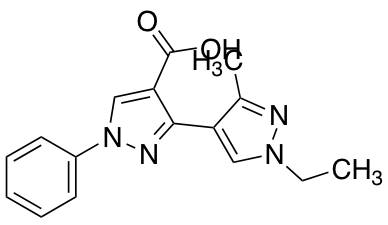 1'-Ethyl-3'-methyl-1-phenyl-1H,1'H-3,4'-bipyrazole-4-carboxylic Acid