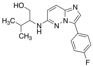 2-{[3-(4-Fluorophenyl)imidazo[1,2-b]pyridazin-6-yl]amino}-3-methylbutan-1-ol