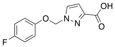 1-[(4-Fluorophenoxy)methyl]-1H-pyrazole-3-carboxylic Acid