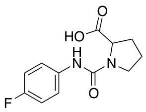 1-[(4-Fluorophenyl)carbamoyl]pyrrolidine-2-carboxylic Acid