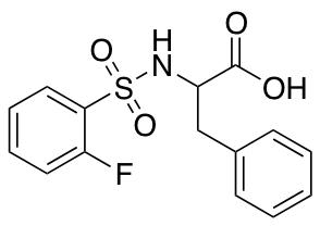 2-(2-Fluorobenzenesulfonamido)-3-phenylpropanoic Acid