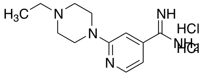 2-(4-ethylpiperazin-1-yl)pyridine-4-carboximidamide dihydrochloride
